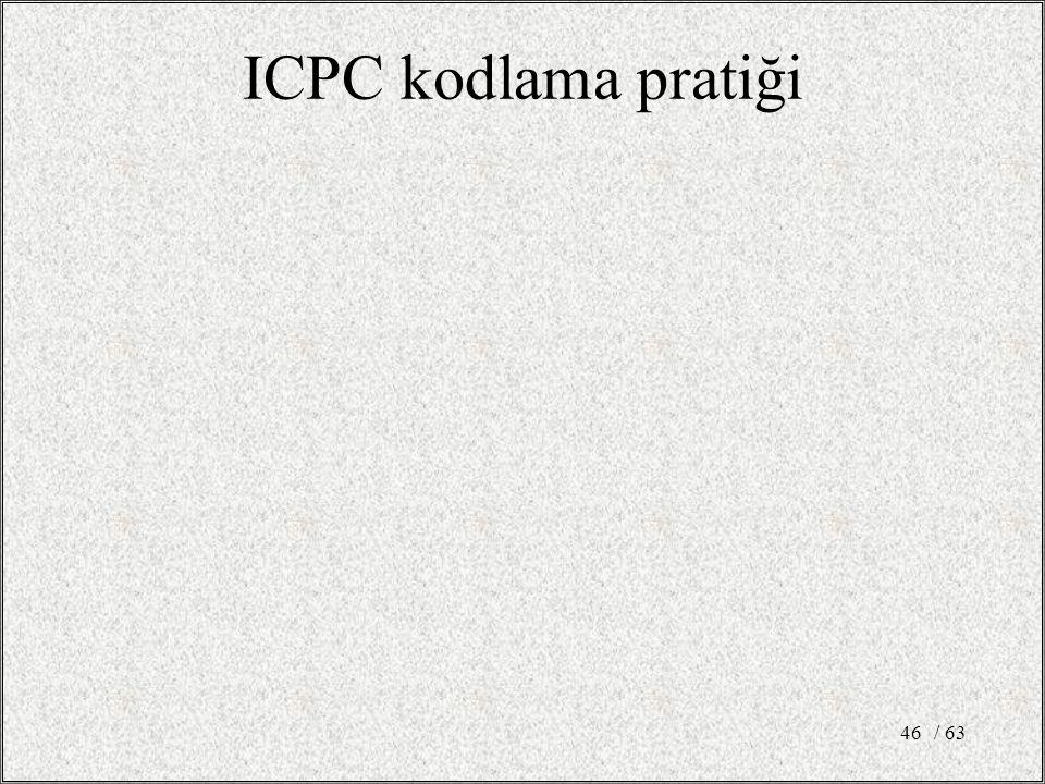 / 6346 ICPC kodlama pratiği