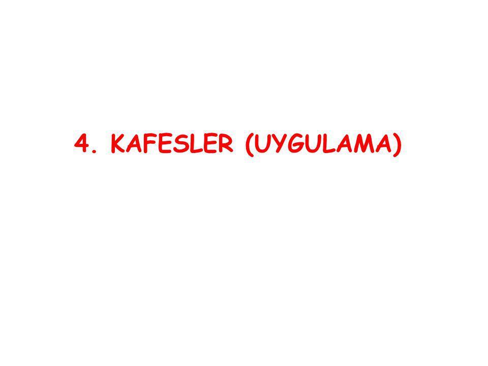 4. KAFESLER (UYGULAMA)