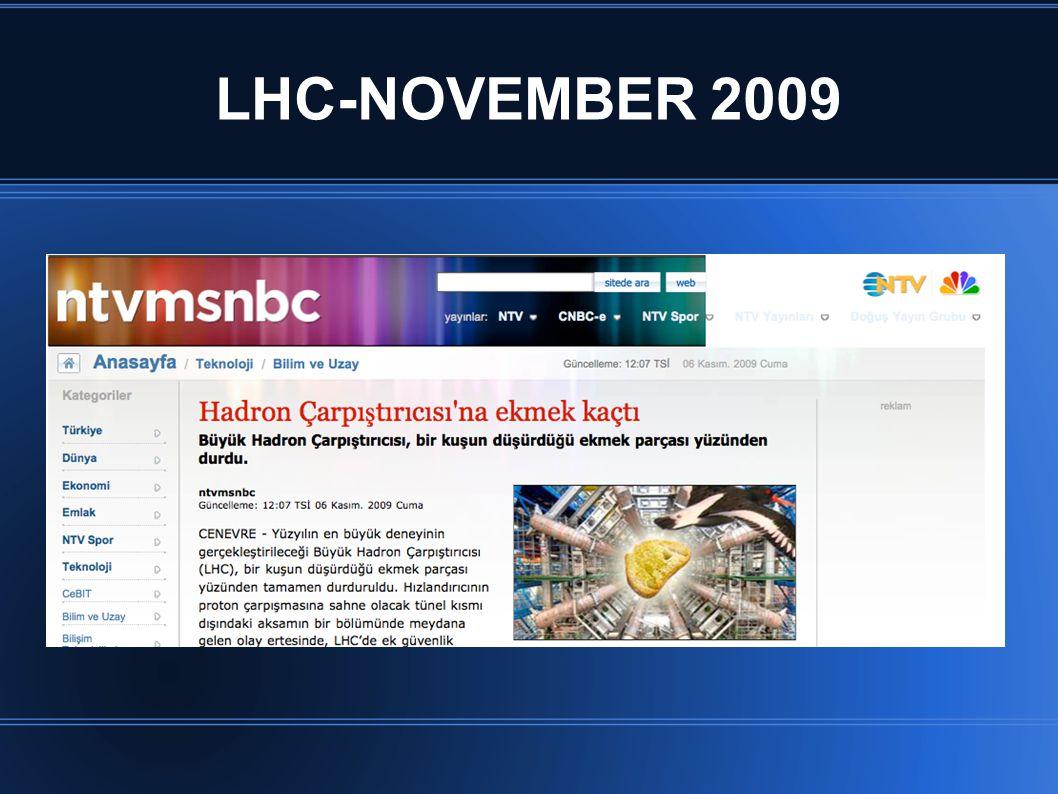 LHC-NOVEMBER 2009