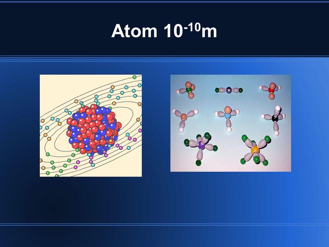 Atom 10 -10 m