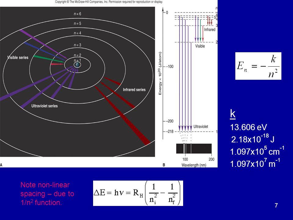 18 Test 3 : n=3 den n=2 düzeyine inerken oluşan foton ile n=2 den n=1 düzeyine inerken oluşan fotonun dalgaboylarını mukayese ediniz.