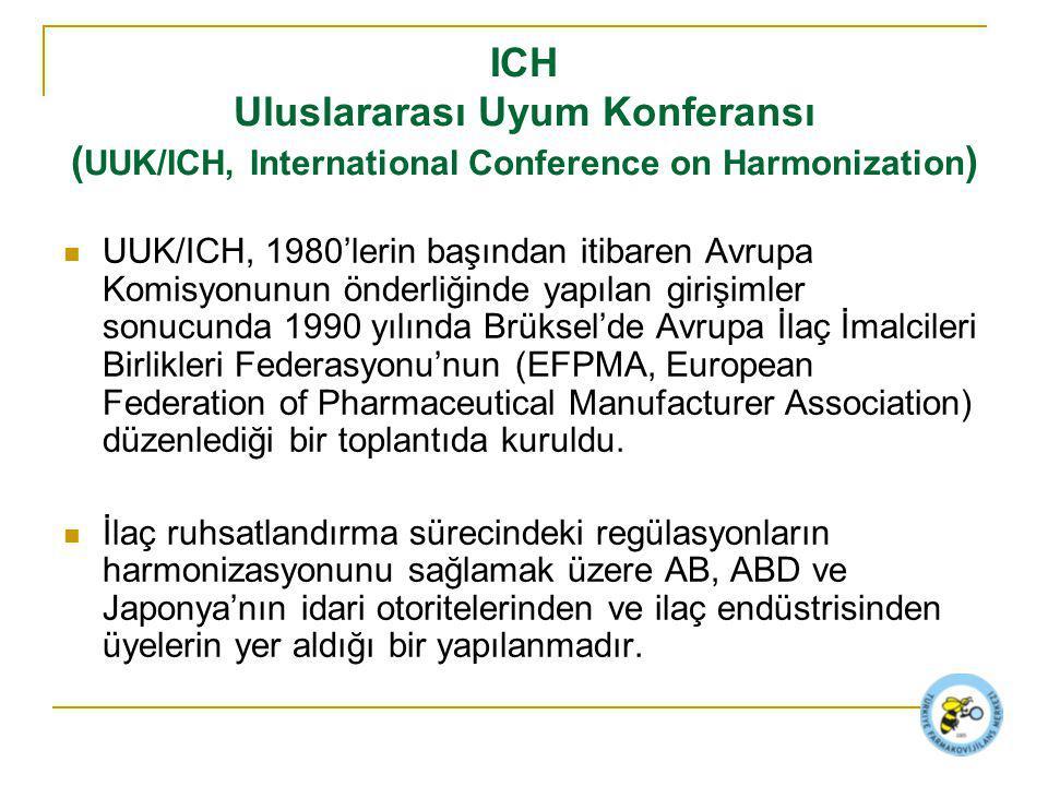 UUK/ICH, 1980'lerin başından itibaren Avrupa Komisyonunun önderliğinde yapılan girişimler sonucunda 1990 yılında Brüksel'de Avrupa İlaç İmalcileri Birlikleri Federasyonu'nun (EFPMA, European Federation of Pharmaceutical Manufacturer Association) düzenlediği bir toplantıda kuruldu.