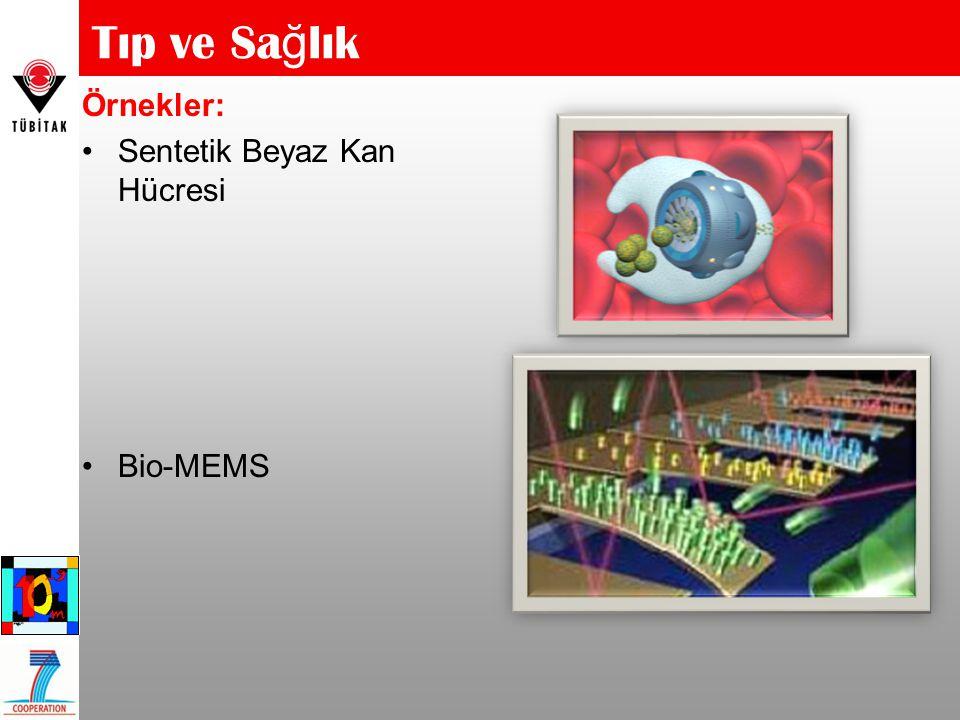 Örnekler: Sentetik Beyaz Kan Hücresi Bio-MEMS Tıp ve Sa ğ lık