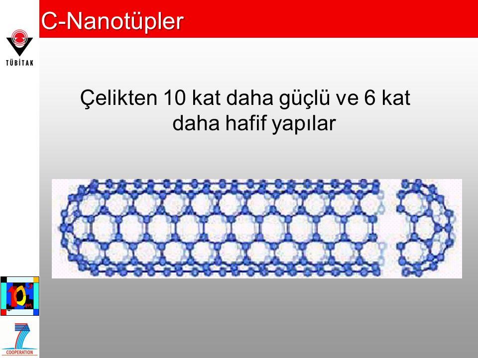 C-Nanotüpler Çelikten 10 kat daha güçlü ve 6 kat daha hafif yapılar