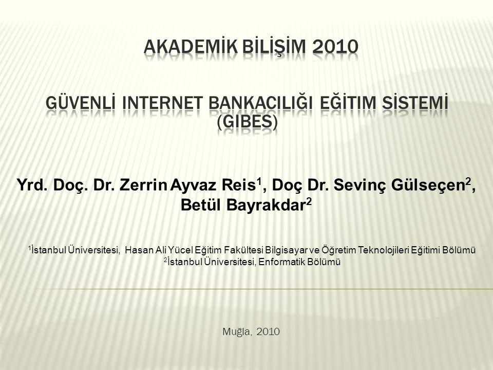 Akademik Bili ş im 2010, Mu ğ la Üniversitesi, 10-12 Ş ubat 2010, MU Ğ LA  Giriş  Internet Bankacılığı  Güvenli Internet Bankacılığı Eğitim Sistemi  Sonuç  Teşekkür