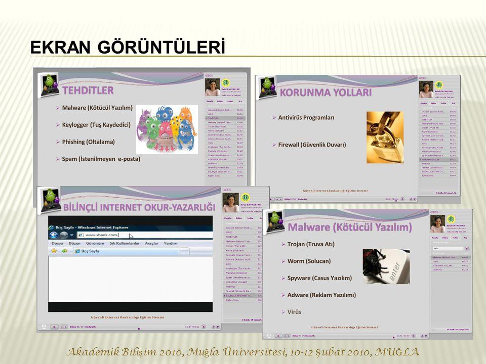 Akademik Bili ş im 2010, Mu ğ la Üniversitesi, 10-12 Ş ubat 2010, MU Ğ LA EKRAN GÖRÜNTÜLERİ