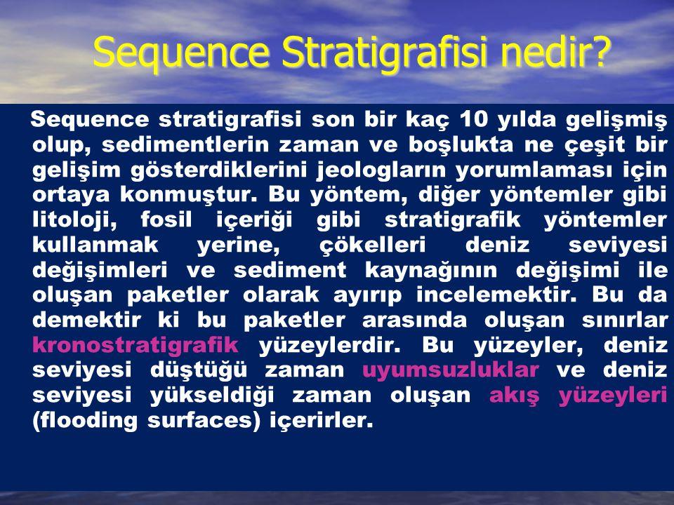 Sequence Stratigrafisi nedir? Sequence Stratigrafisi nedir? Sequence stratigrafisi son bir kaç 10 yılda gelişmiş olup, sedimentlerin zaman ve boşlukta