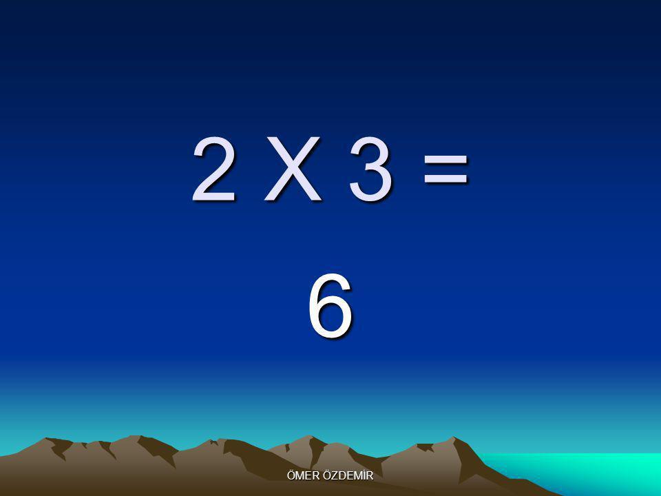 ÖMER ÖZDEMİR 2 X 2 = 4