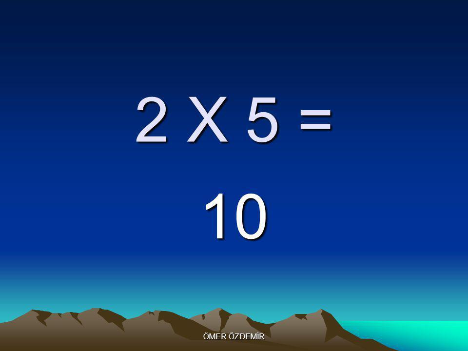 ÖMER ÖZDEMİR 2 X 4 = 8