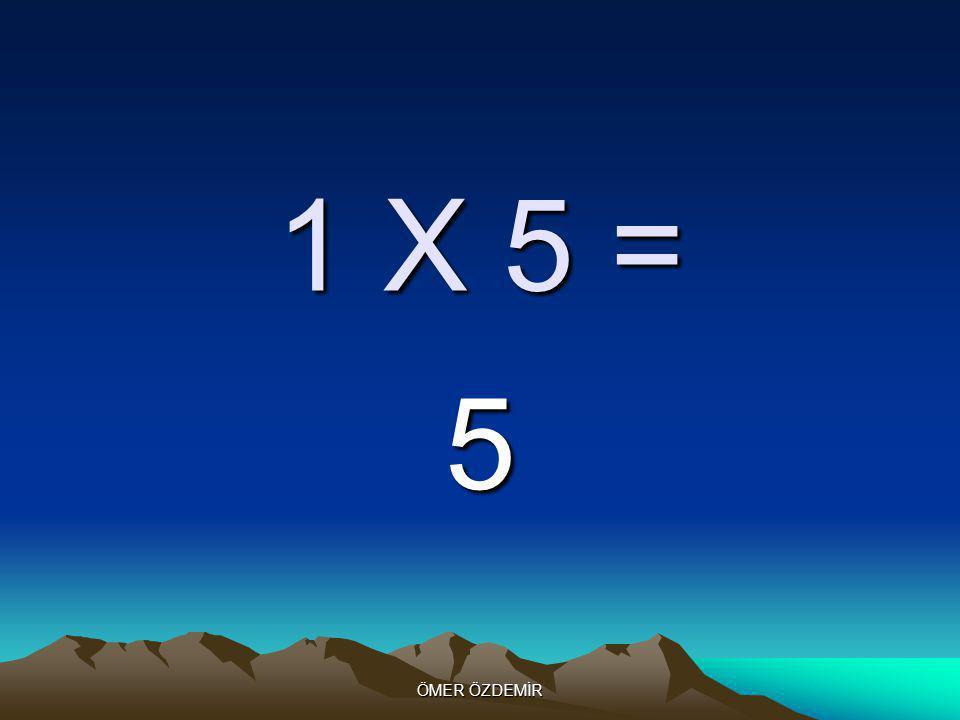 ÖMER ÖZDEMİR 1 X 4 = 4