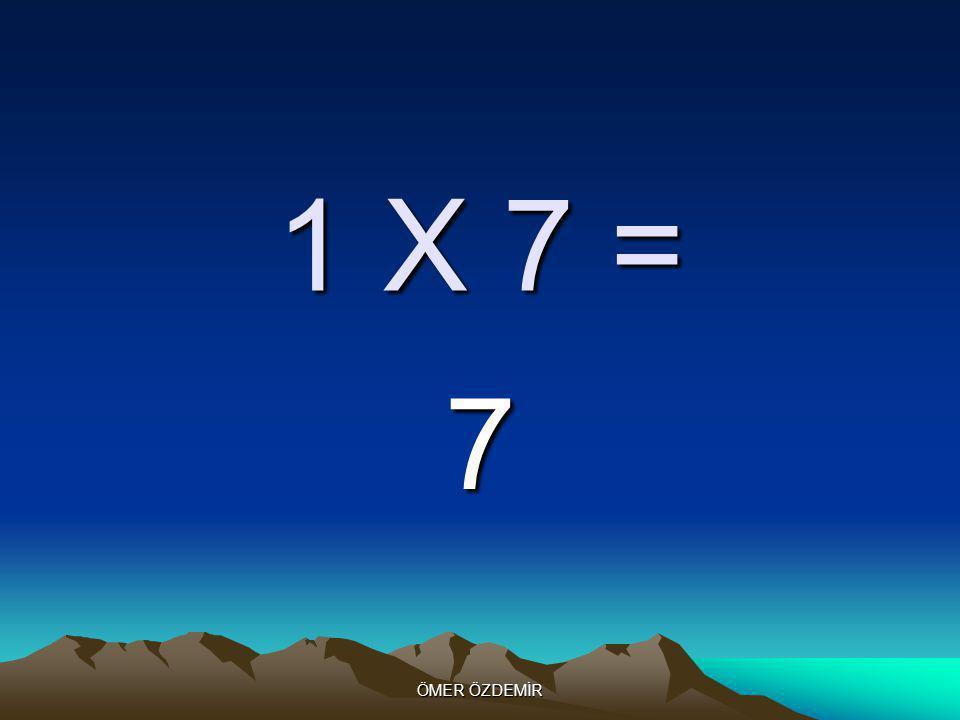 ÖMER ÖZDEMİR 1 X 6 = 6