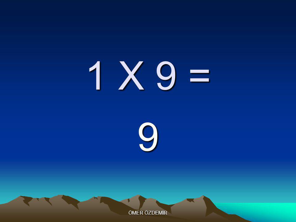ÖMER ÖZDEMİR 1 X 8 = 8