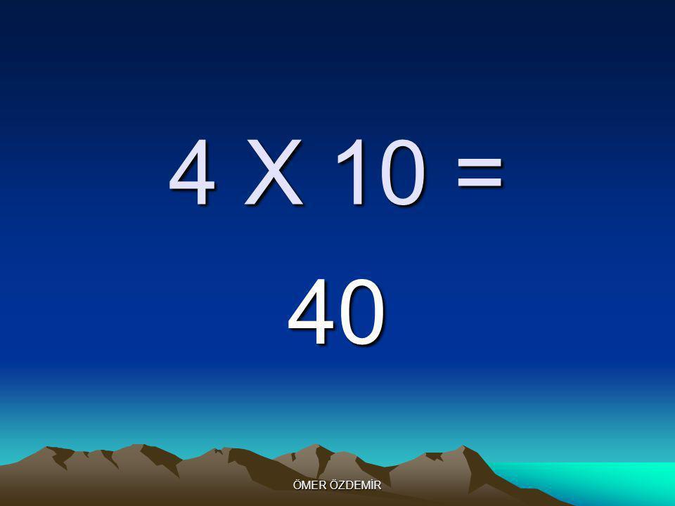 ÖMER ÖZDEMİR 4 X 9 = 36