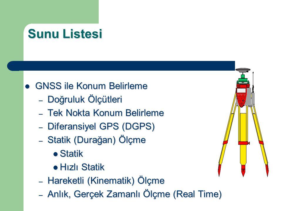 GNSS İLE BAĞIL (Relative) KONUM BELİRLEME
