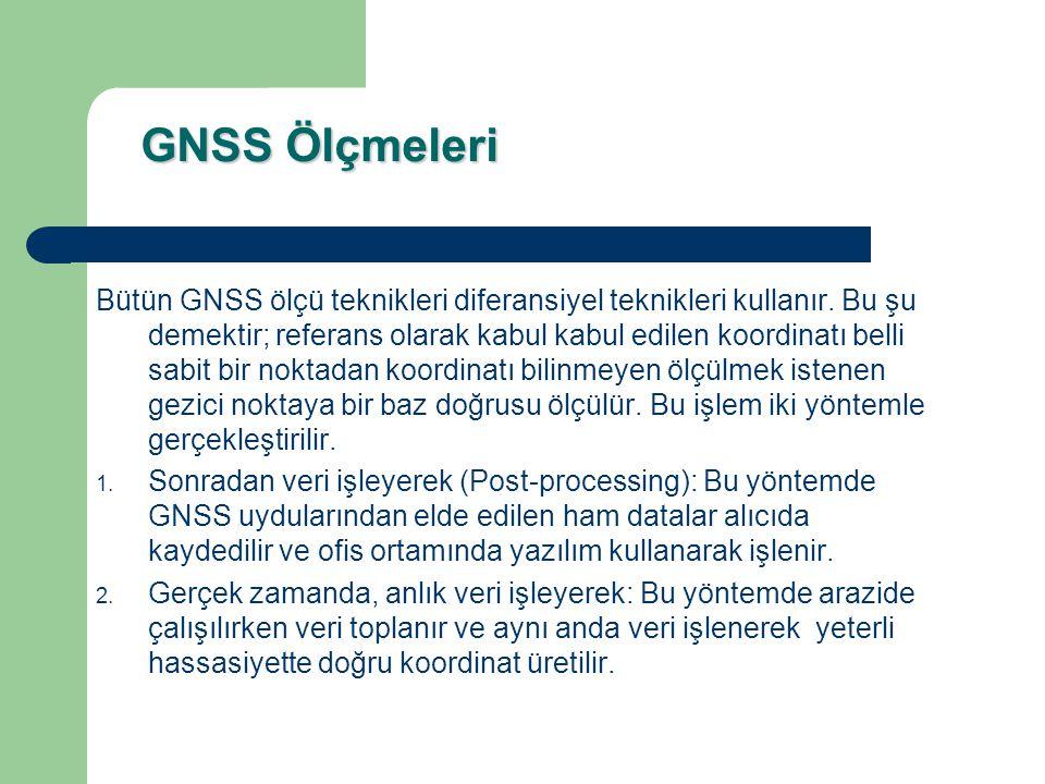 Statik (Durağan)& Hızlı Statik GNSS Ölçü Yöntemi