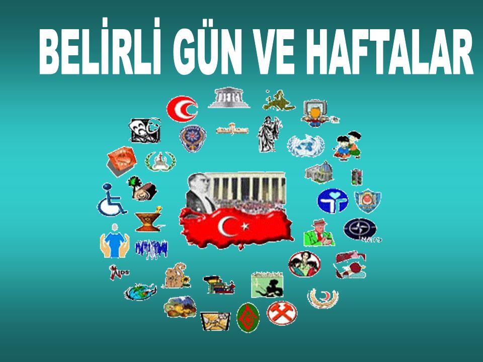 KIZILAY HAFTASI (29 Ekim – 4 Kasım)  Her yıl 29 Ekim - 4 Kasım tarihleri arasında Kızılay Haftası kutlanır.