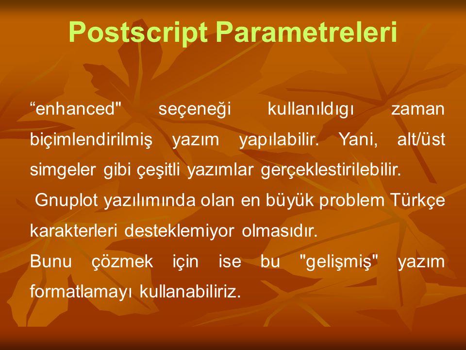 "Postscript Parametreleri ""enhanced"