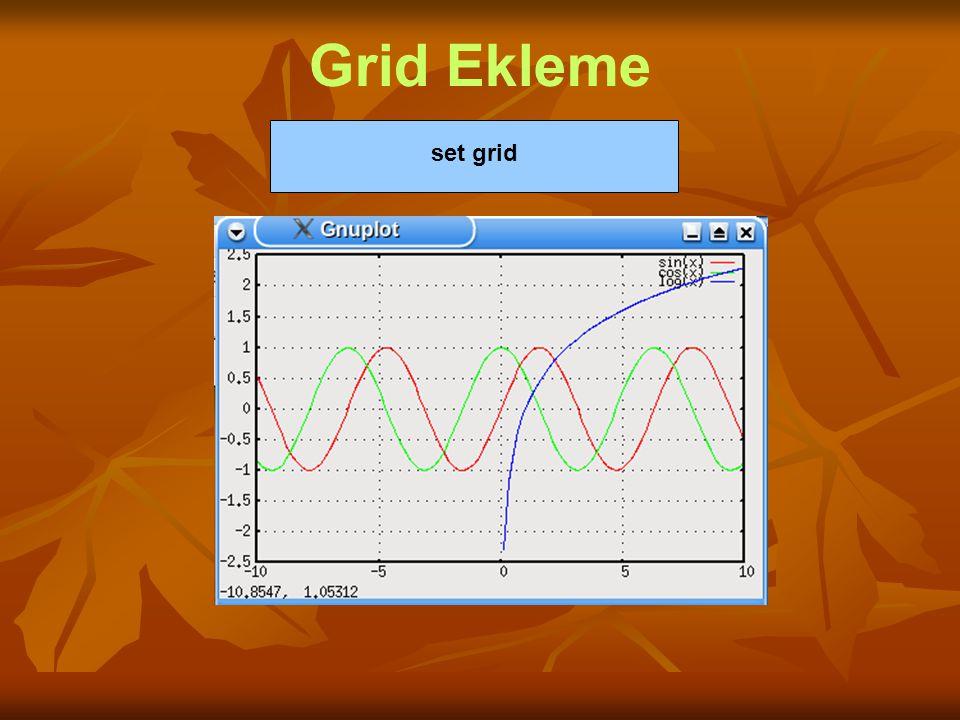 Grid Ekleme set grid