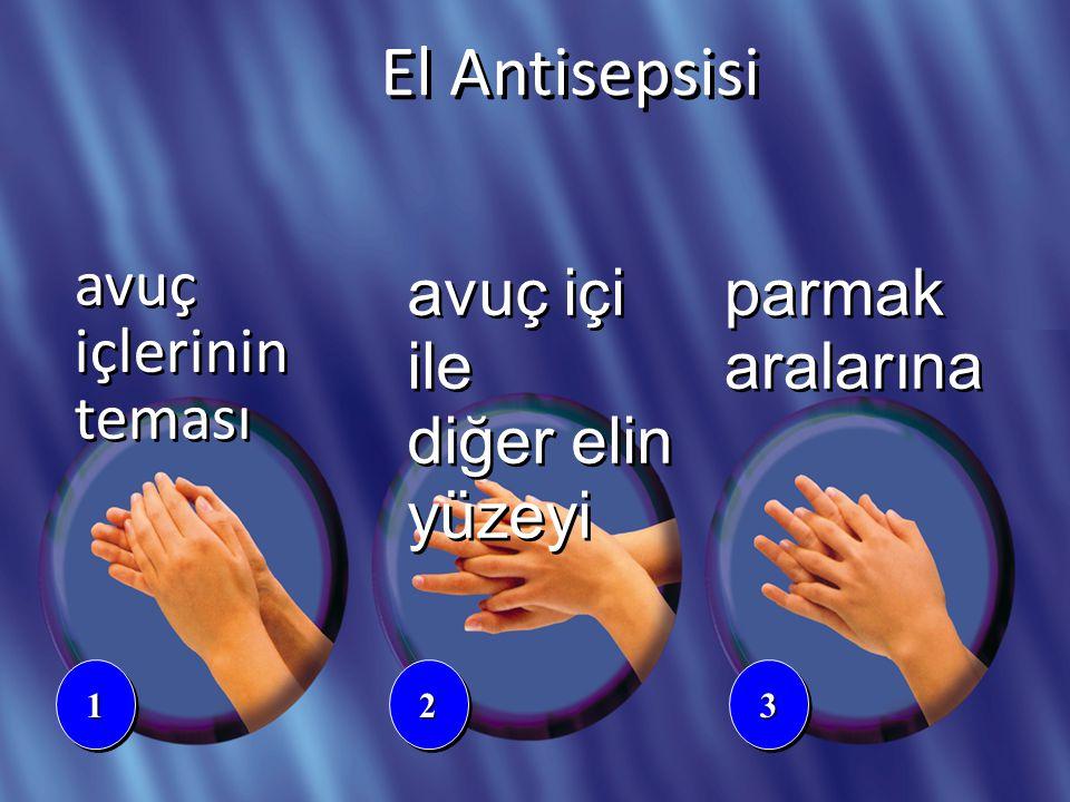 çapraz parmaklar baş parmak 445566 avuç içinde parmaklar El Antisepsisi