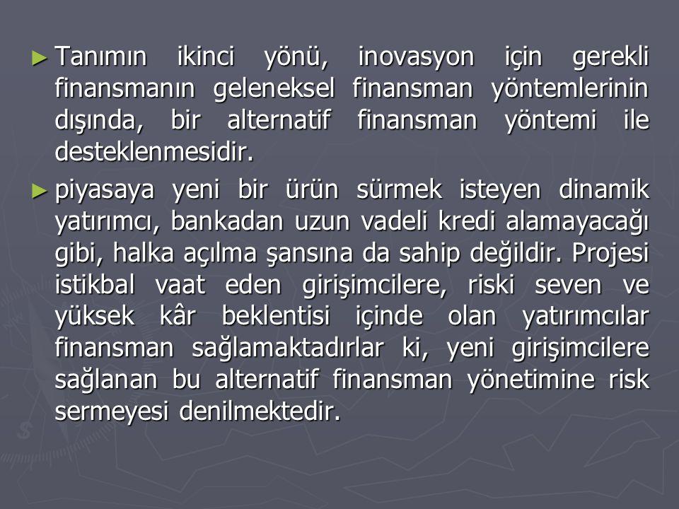 Türkiye'de Risk Sermayesi ► Risk sermayesi Türkiye de oldukça yeni bir kavram.