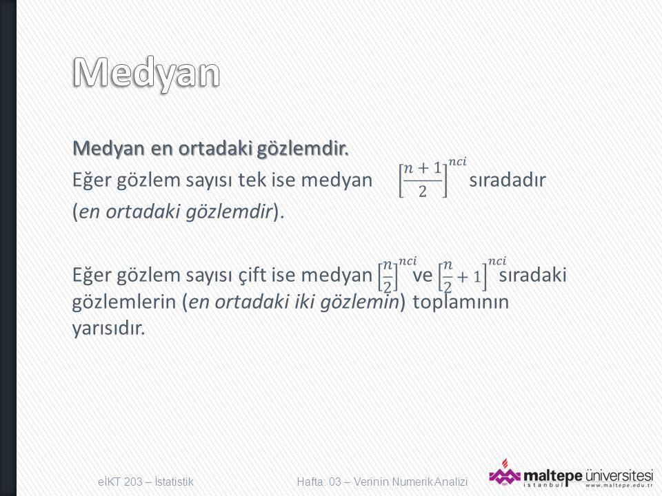 Aritmetik ortalama en çok kullanılan merkezi eğilim ölçüsüdür.
