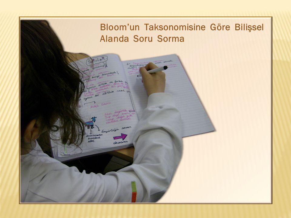 Bloom'un Taksonomisine Göre Bilişsel Alanda Soru Sorma