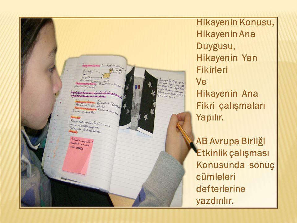 Hikayenin Konusu, Hikayenin Ana Duygusu, Hikayenin Yan Fikirleri Ve Hikayenin Ana Fikri çalışmaları Yapılır.