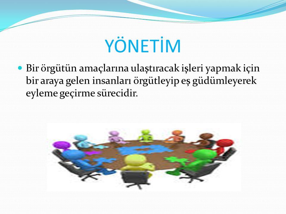 CO-ORDİNATİNG ( EŞGÜDÜMLEME ) : Çeşitli iş bölümlerinin birbirleriyle karşılıklı olan önemli görevleri içerir.
