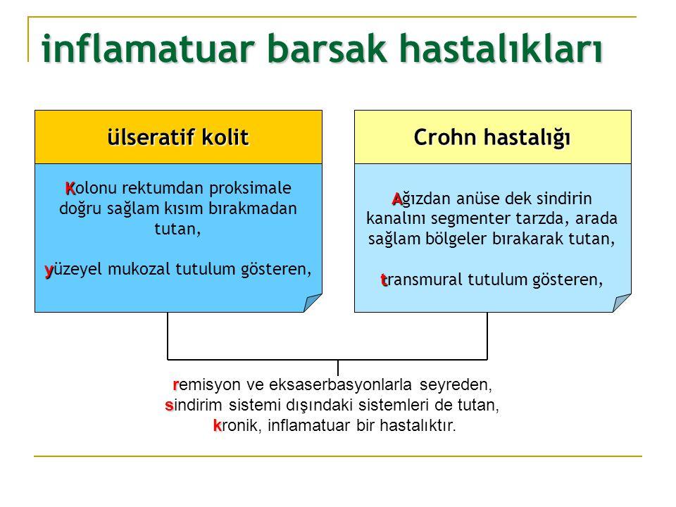 çekum ileum İBH İnce barsak kolon mide özofagus ağız İleoçekal bölge anüs rektum anatomik dağılım patoloji Crohn Hastalıgı % 5 %20 %5 %5 %35 %35