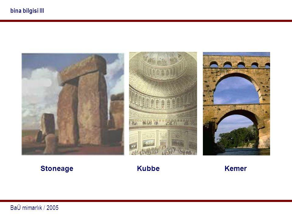 BaÜ mimarlık / 2005 bina bilgisi III StoneageKubbeKemer