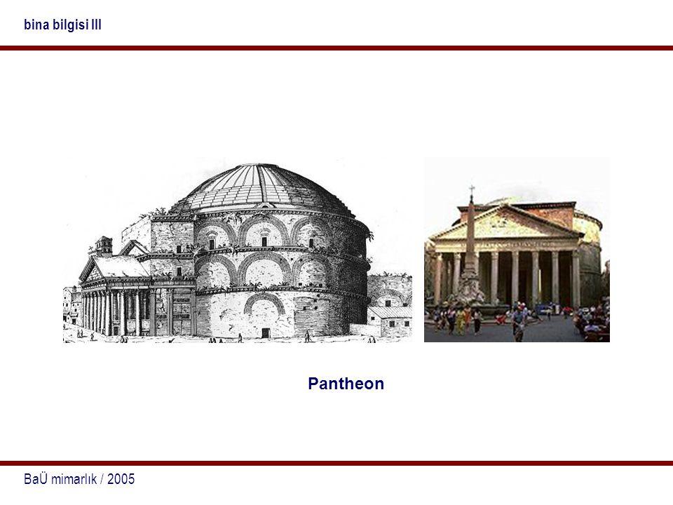 BaÜ mimarlık / 2005 bina bilgisi III Pantheon