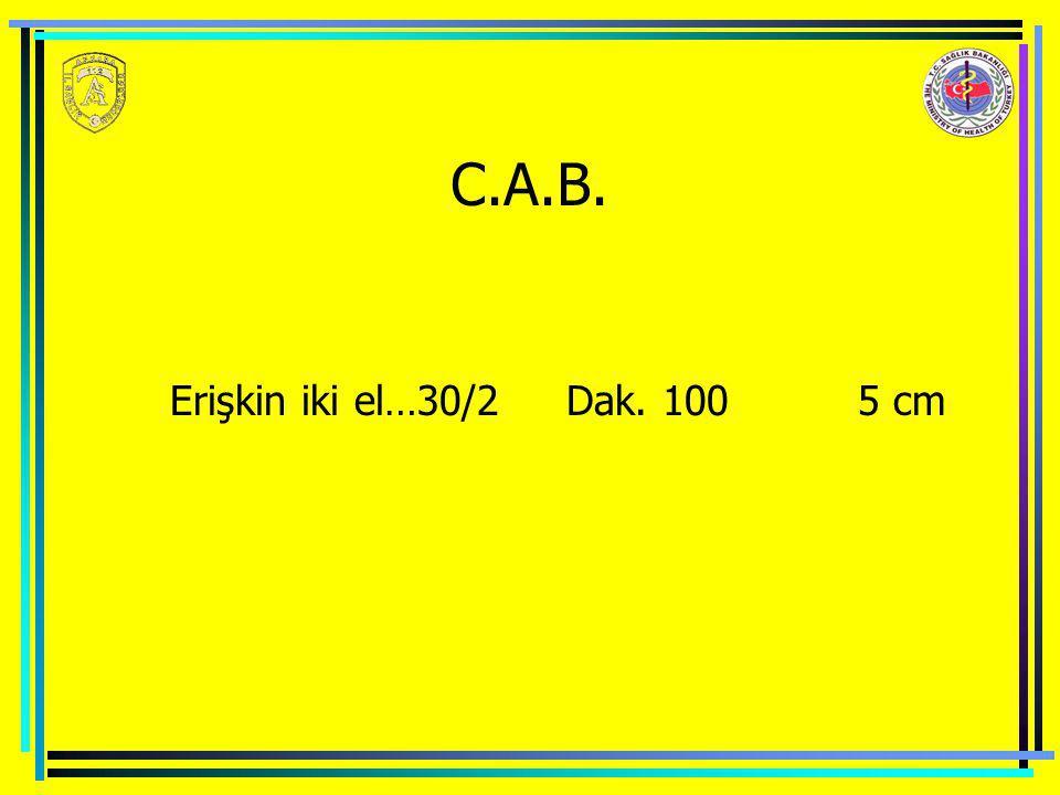C.A.B. Erişkin iki el…30/2 Dak. 100 5 cm