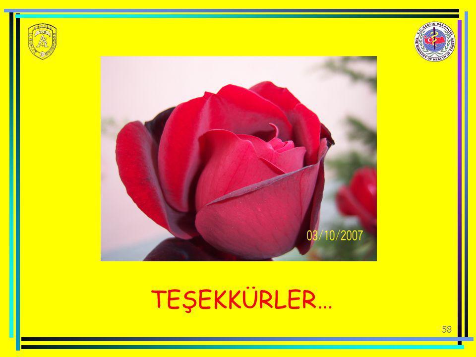 TEŞEKKÜRLER… 58