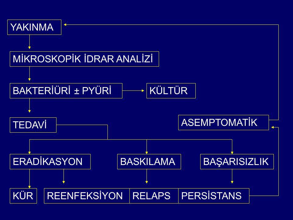 SUPRESYON TEDAVİSİ ENDİKASYONLARI (KANITLANMADI!!!) SIK TEKRARLAYAN İYE YENİ SKAR OLUŞUMU SIK TEKRARLAYAN SİSTİT SIK TEKRARLAYAN PİYELONEFRİT (VUR OLSA DA OLMASA DA)