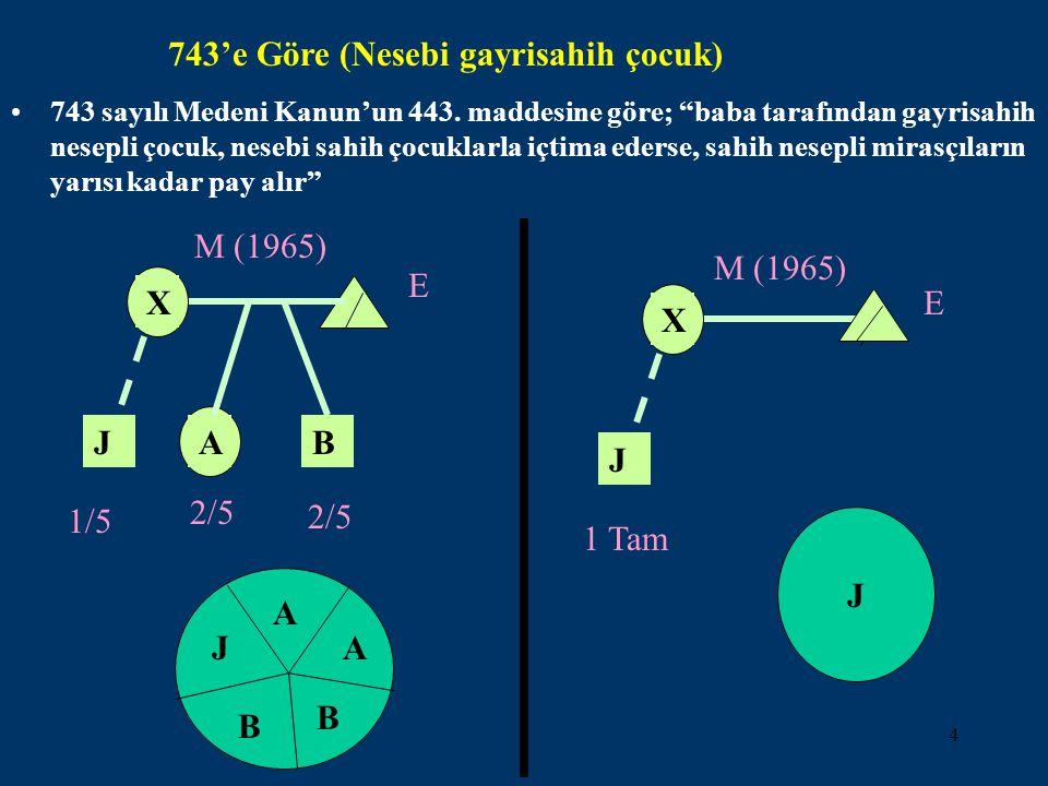5 B X M (2003) E A 1/2 2.ZÜMRE MİRASÇILARIN PAYLARI (4721/496; 743/440).