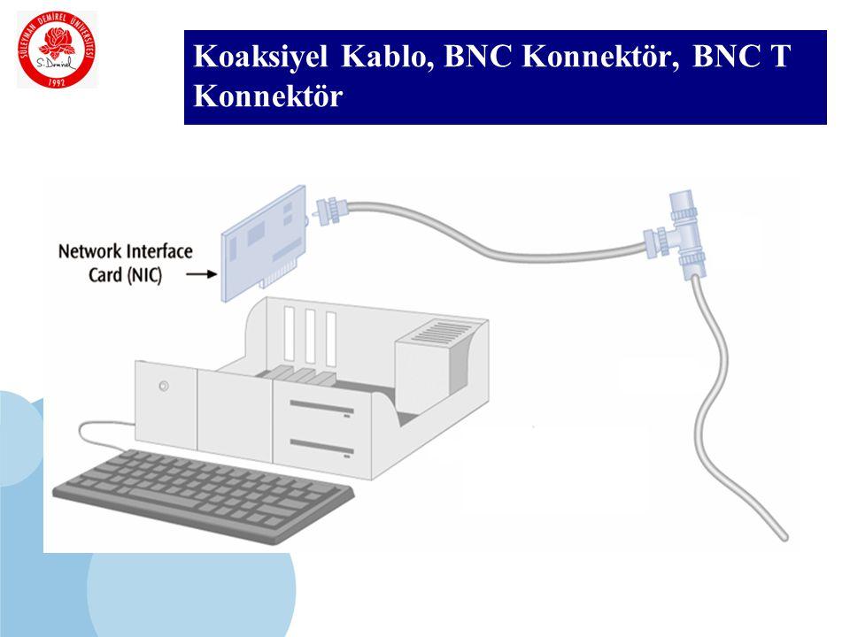 SDÜ KMYO Koaksiyel Kablo, BNC Konnektör, BNC T Konnektör