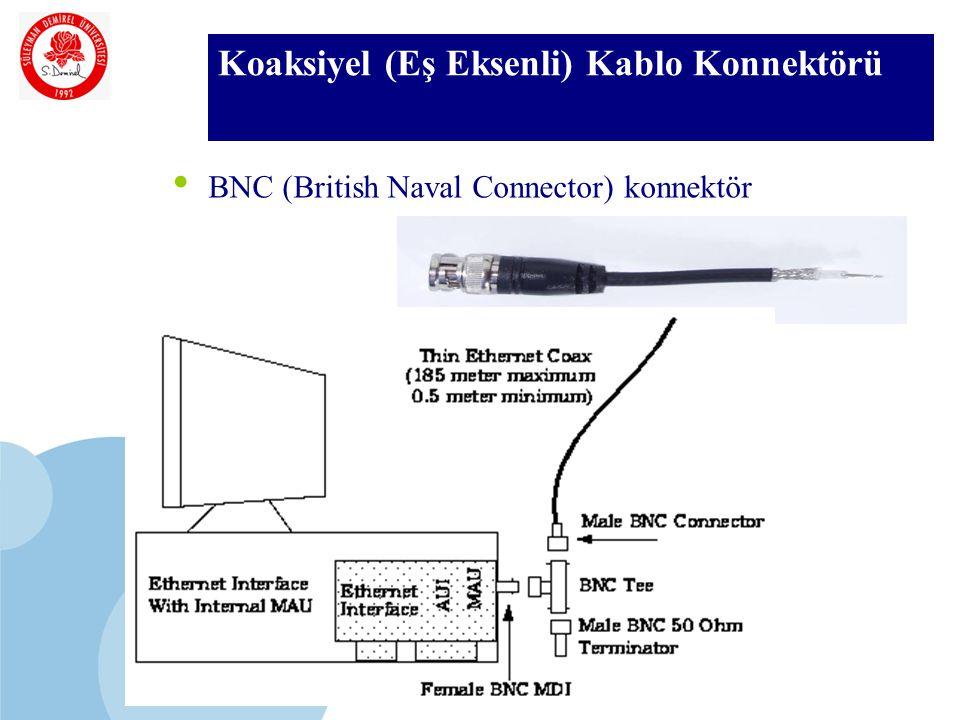 SDÜ KMYO Koaksiyel (Eş Eksenli) Kablo Konnektörü BNC (British Naval Connector) konnektör