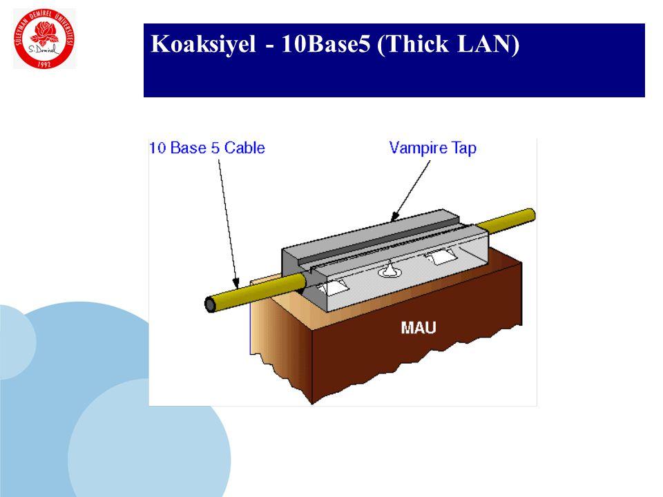 SDÜ KMYO Koaksiyel - 10Base5 (Thick LAN)