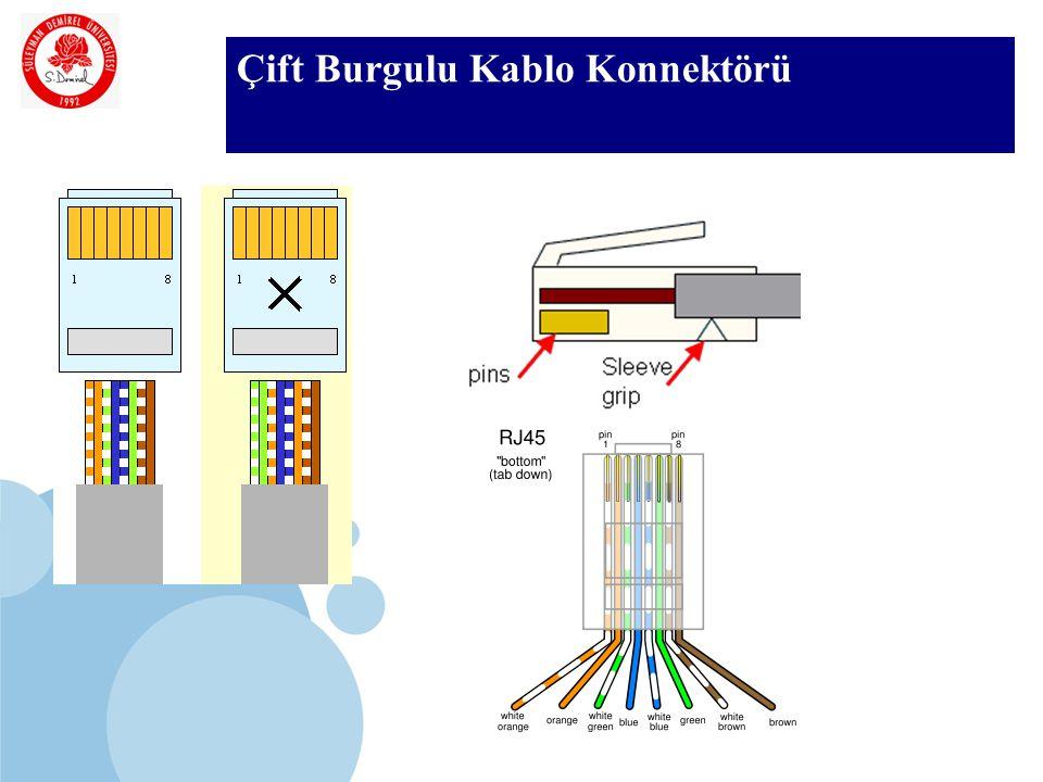 SDÜ KMYO Çift Burgulu Kablo Konnektörü