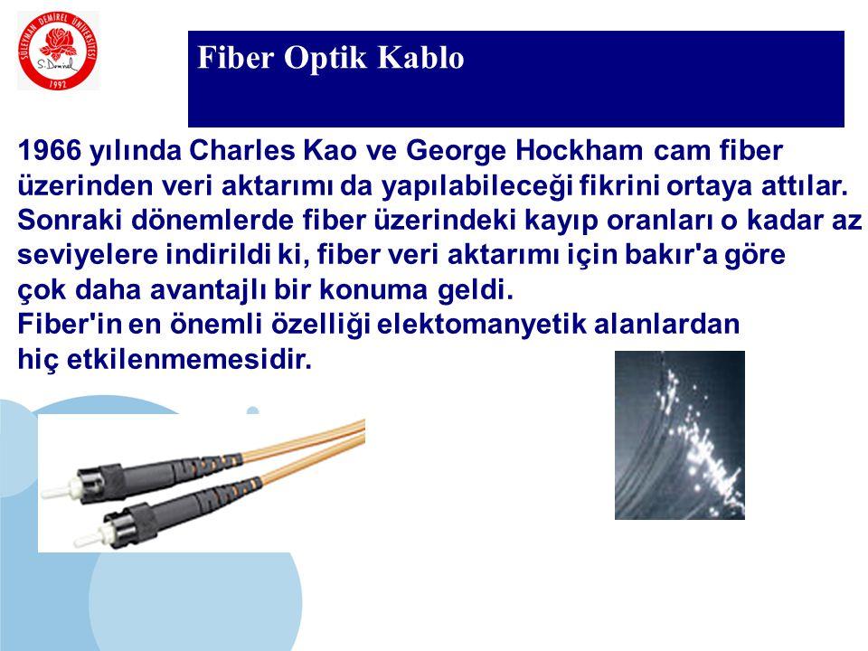 SDÜ KMYO Fiber Optik Kablo 1966 yılında Charles Kao ve George Hockham cam fiber üzerinden veri aktarımı da yapılabileceği fikrini ortaya attılar. Sonr