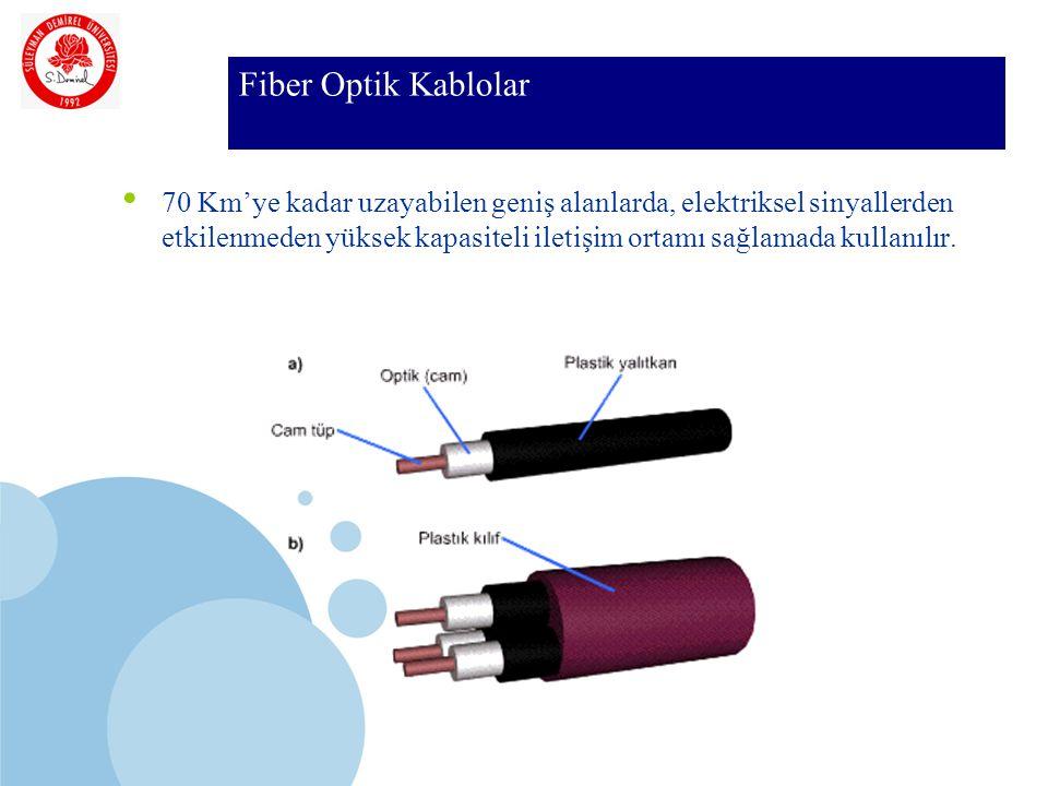 SDÜ KMYO Fiber Optik Kablolar 70 Km'ye kadar uzayabilen geniş alanlarda, elektriksel sinyallerden etkilenmeden yüksek kapasiteli iletişim ortamı sağlamada kullanılır.