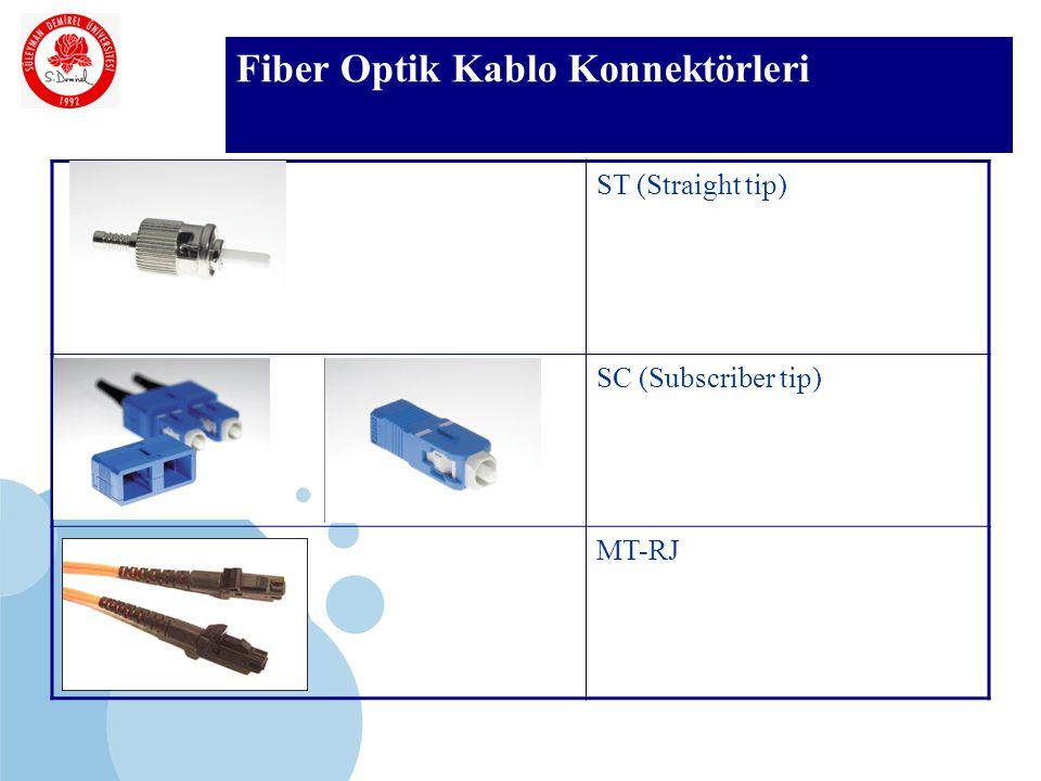 SDÜ KMYO Fiber Optik Kablo Konnektörleri ST (Straight tip) SC (Subscriber tip) MT-RJ