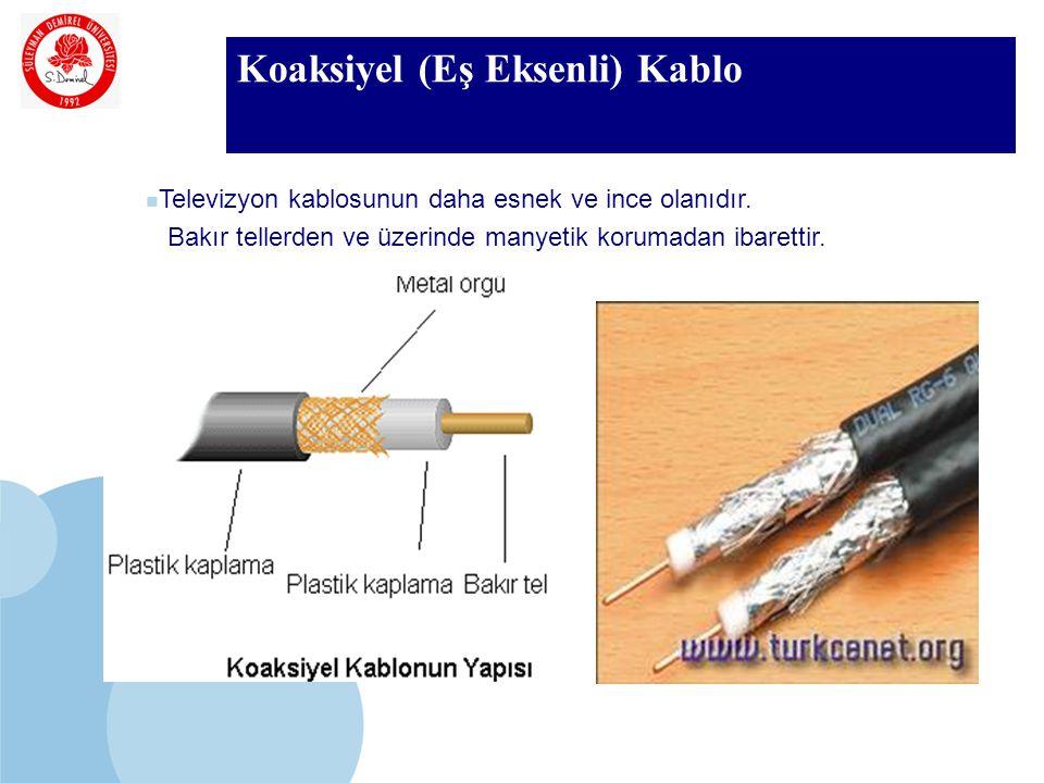 SDÜ KMYO Koaksiyel (Eş Eksenli) Kablo Televizyon kablosunun daha esnek ve ince olanıdır.