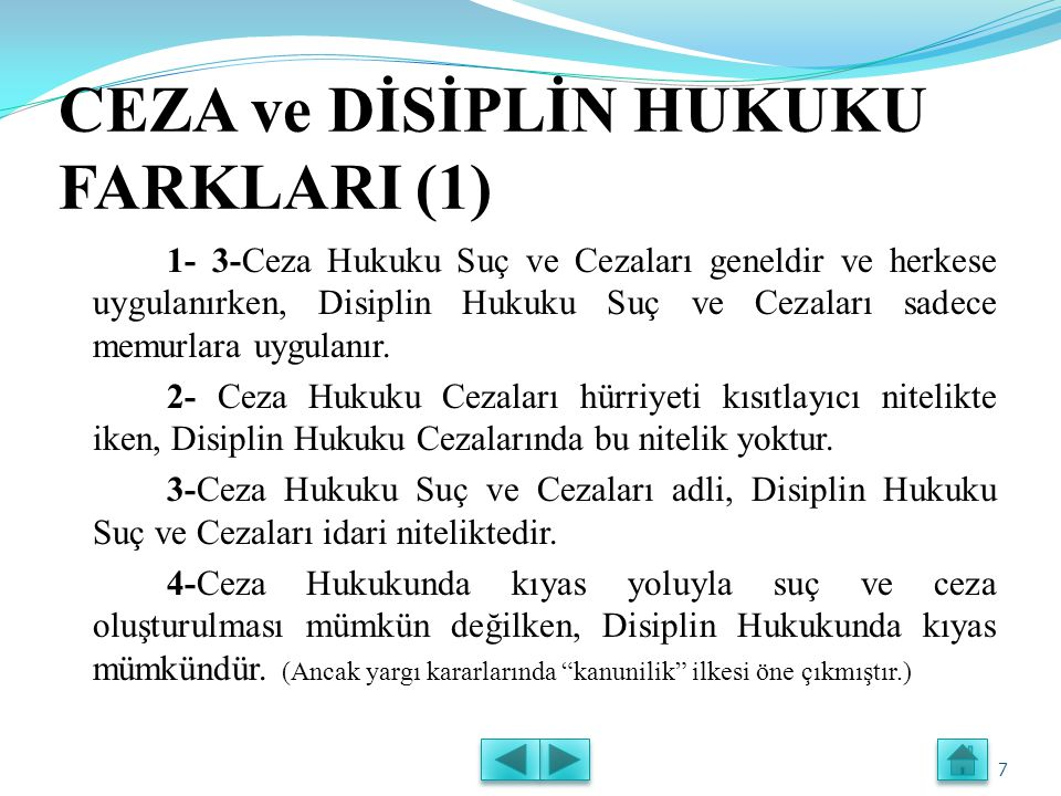 DİSİPLİN SORUŞTURMALARI (3) Disiplin Soruşturmasına Başlanılmasında Zamanaşımı -Uyarma, kınama, aylıktan kesme ve kademe ilerlemesinin durdurulması cezalarını gerektiren suçlarda 1 ay, -Devlet memurluğundan çıkarma cezasını gerektiren suçlarda 6 ay, İçinde disiplin soruşturmasına başlanılmaması halinde disiplin cezası verme yetkisi zamanaşımına uğramaktadır.