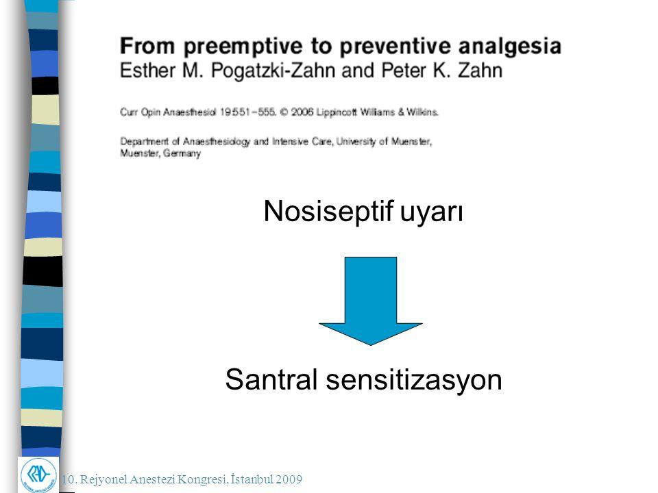 Nosiseptif uyarı Santral sensitizasyon