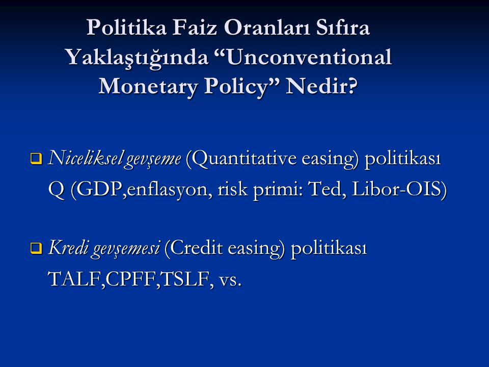 """Politika Faiz Oranları Sıfıra Yaklaştığında """"Unconventional Monetary Policy"""" Nedir?  Niceliksel gevşeme (Quantitative easing) politikası Q (GDP,enfla"""