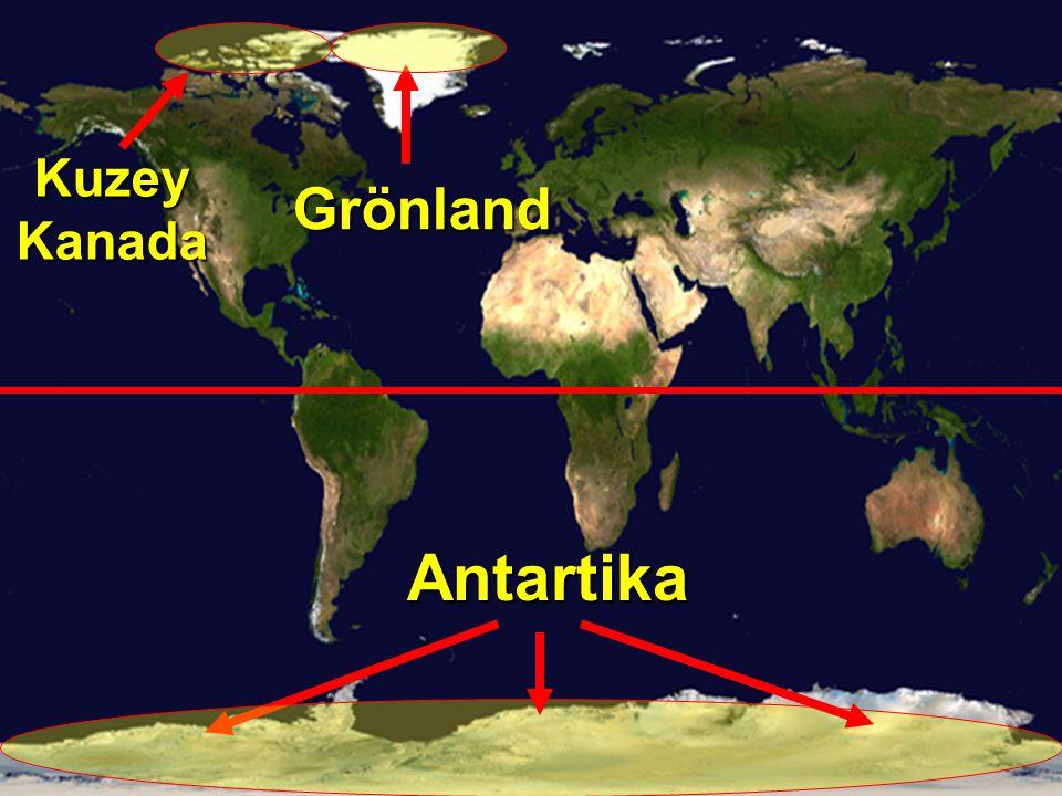 Kuzey Kanada Antartika Grönland