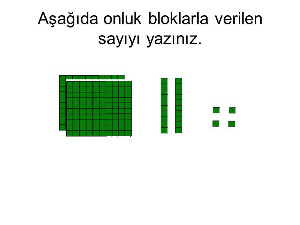 Aşağıda onluk bloklarla verilen sayıyı yazınız.