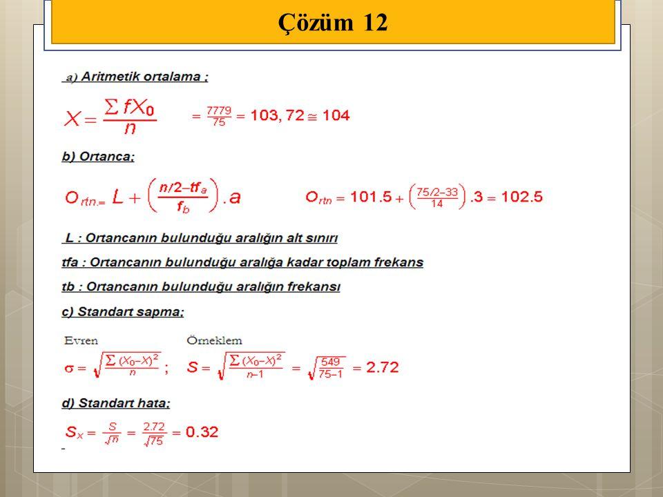 Çözüm 12