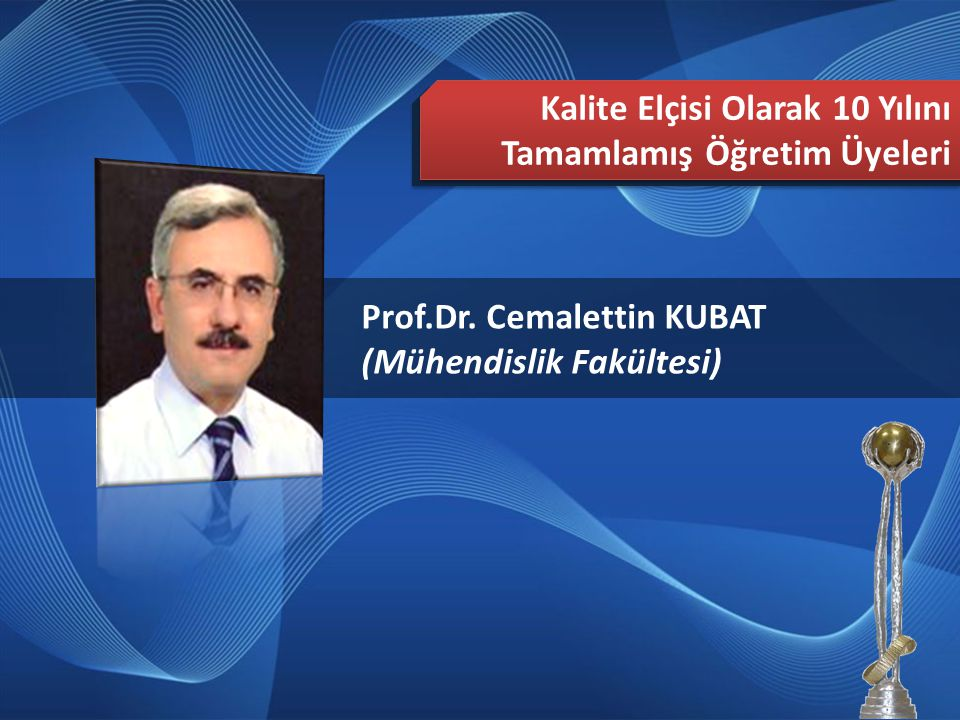 Mesut OKTAY (Stratejik Planlama ve EFQM Şube Müdürlüğü) 2013 Türkiye Mükemmellikte Süreklilik Ödülü Rehberleri